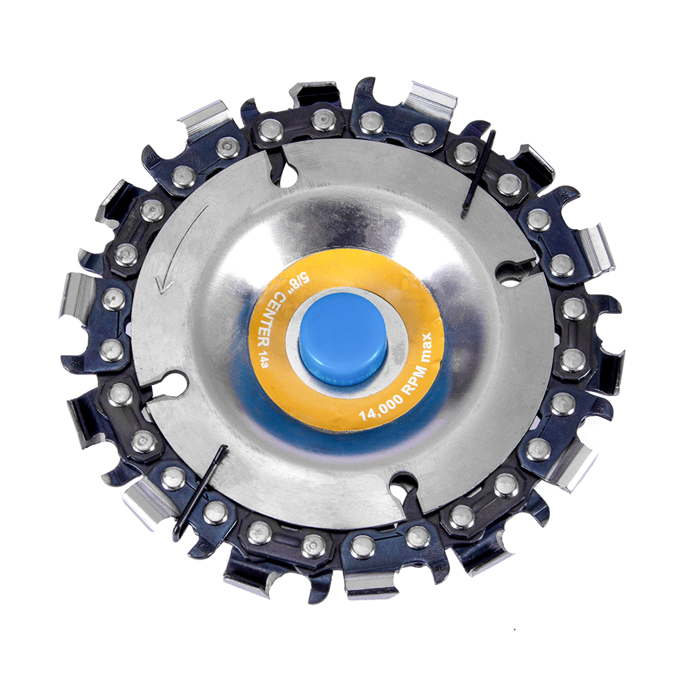 Hakkin 4 Inch 14 Tooth Grinder Disc Chain Saw Wood Carving Disc Woodworking Slotted Saw Blade For 100/115mm Angle Grinder
