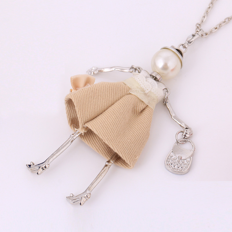 statement handmade doll necklaces long chain pendants 2017 alloy new - Fashion Jewelry - Photo 3