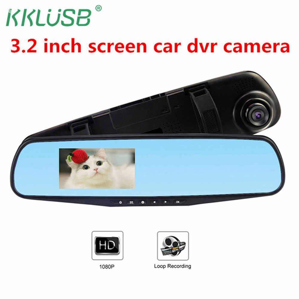 "Auto dvr camera HD 3.2 ""dash cam auto camera recorder Bewegingsdetectie Cyclus Opname auto detector dvr carro Led display TF DVR"