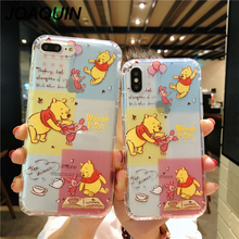 Cute Cartoon Graffiti Minnie Mickey Mouse Silicone Winnie Pooh Case For iPhone X 6 S 7 8 Plus Soft Donald Case For iPhone XS MAX стоимость