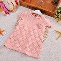 2017 Новая коллекция весна осень девочки вязание свитера жилет дети детей свитер младенческой ребенок хлопок свитер