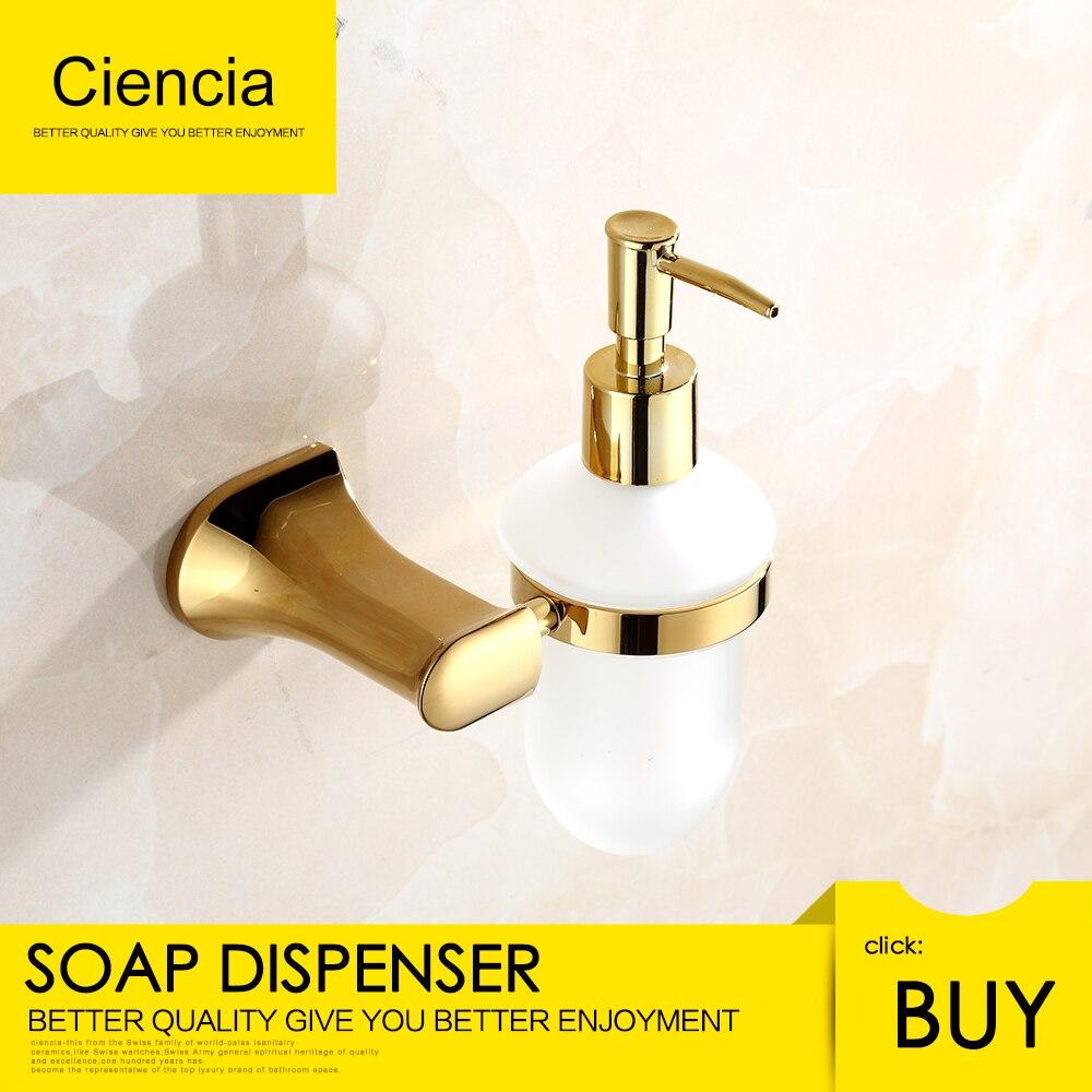 Бесплатная доставка латунь золотой настенный держатель для жидкого мыла аксессуары для ванной