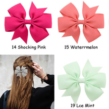 1 Pcs Silver Fashion Lovely 12 Color Hair Clip Women Six-eared Ribbon Fishtail Bow Hairpin Headdress Accessories Styling Tools(China)