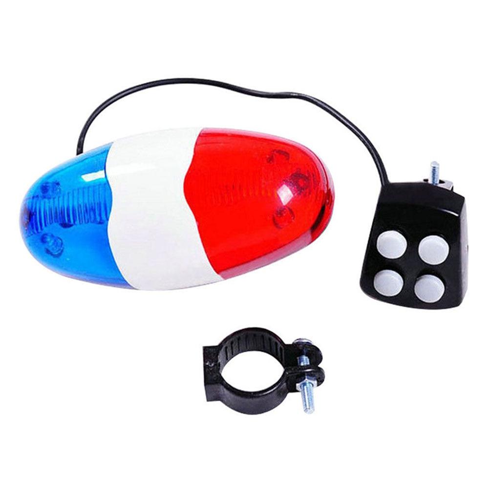 Mountain Bicycle Lamp 6 Flashing LED 4 Sounds Police Siren  Horn Bell Bike Rear Light Waterproof Safety Warning Light FI-19ING