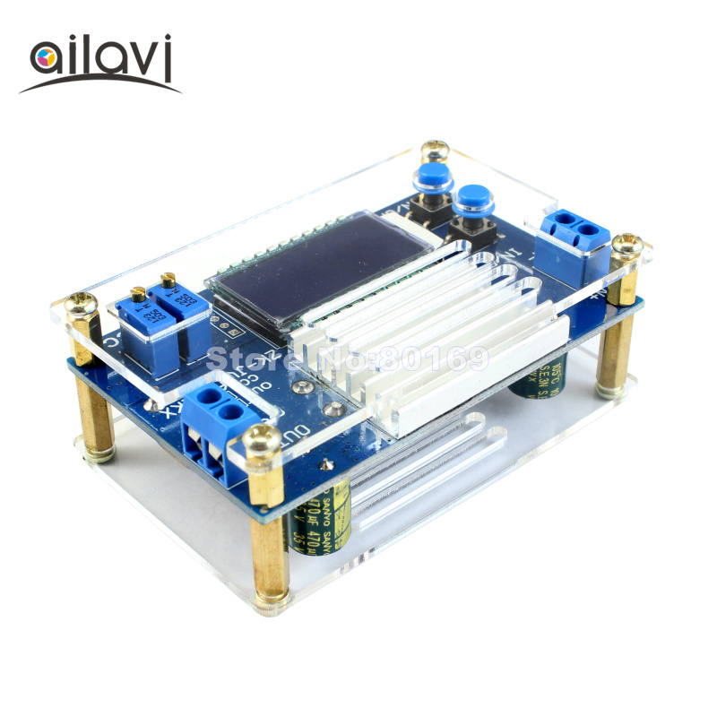 12A Buck Converter Constant Voltage Constant Current LCD Display Voltage Current Adjustable Step-down Power Supply Module 30pcs lot by dhl or fedex dps3005 communication function step down buck voltage converter lcd voltmeter 40%off