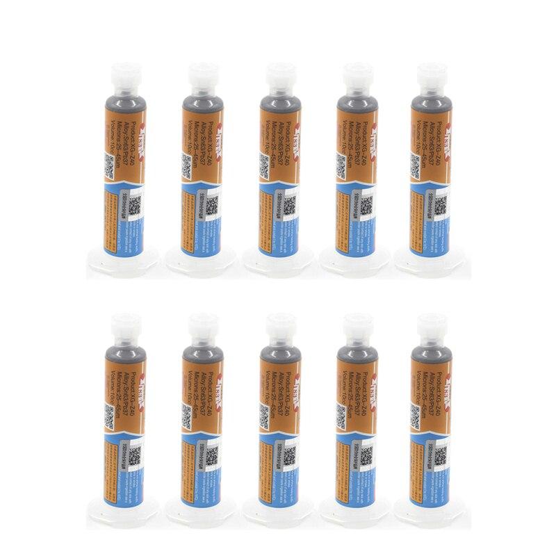 MECHANIC XG Z40 10Pcs lot Sn63 Pb37 25 45um Melting point 183 tin solder paste cream