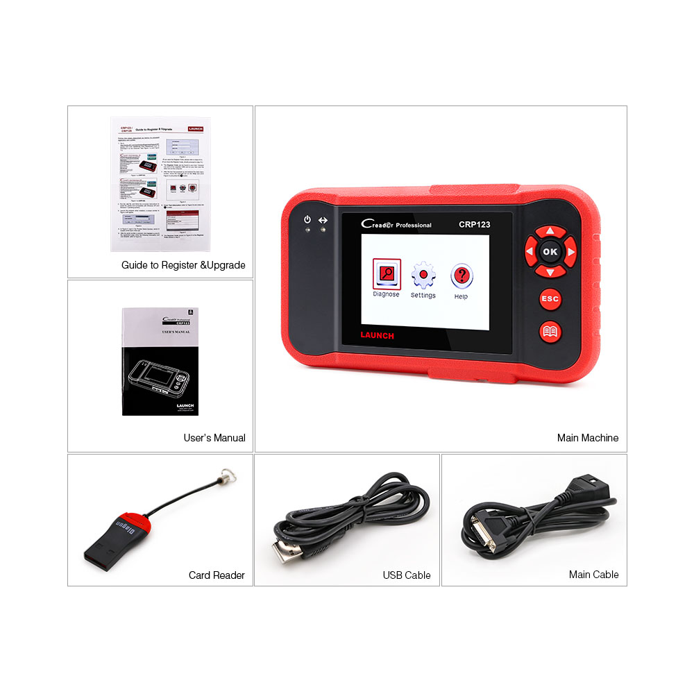 Image 5 - LAUNCH CRP123 Professional obd2 Car Diagnostic Tool  OBDII code reader scanner CRP 123 test Engine ABS Airbag Transmission on