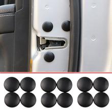 12pçs tampa de protetor de parafuso da fechadura, cobertura de protetor para parafuso de fechadura de porta de carro para hyundai ix35 ix45 sonata verna solaris elantra tucson mistra ix25 i30