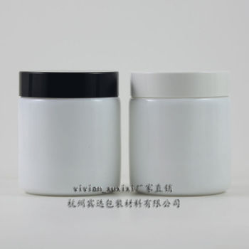 20pcs 100g white glass cream jar with black or white plastic lid, empty glass 100 grams cosmetic jar, 100ml mask cream container