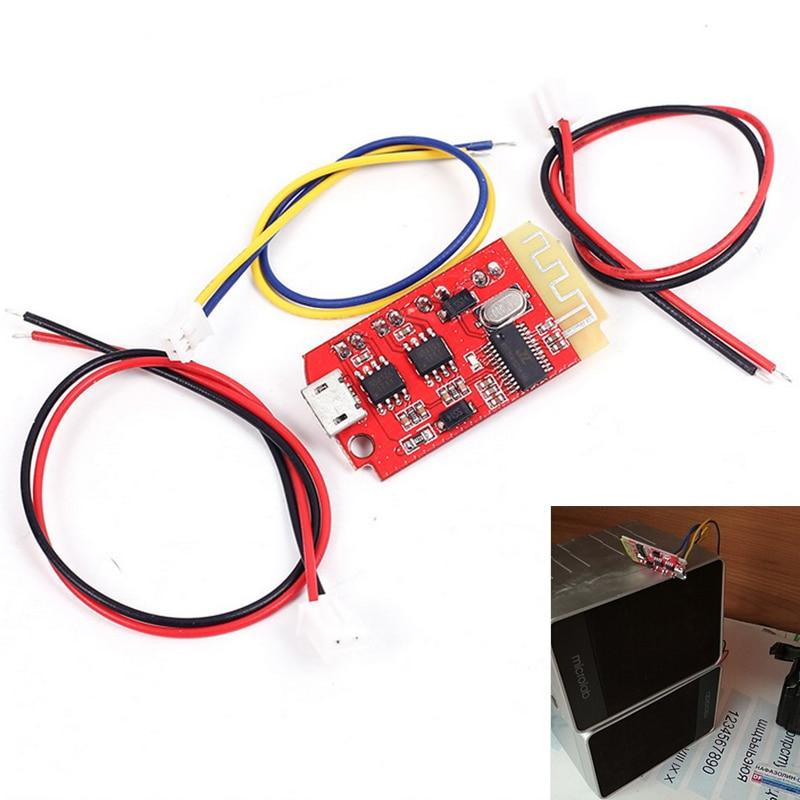 CT14 Micro 4.2 Stereo <font><b>Bluetooth</b></font> Power <font><b>Amplifier</b></font> Board <font><b>Module</b></font> 5VF 5W+5W Mini with Charging Port for refitting the idle sound box