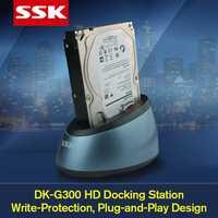SSK DK-G300 HDD Dock Station Base USB 3.0 SATA Externe Harde Drive HDD Behuizing voor 2.5/3.5 inch HDD/SSD SATA OTB 10 TB voor MAC