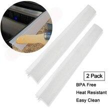 Набор из 2 кухонных силиконовых печных столешниц крышка зазора термостойкие широкий и длинный зазор наполнитель уплотнения разливается между счетчиком