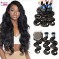 Malaysian Virgin Hair With Closure Malaysian Body Wave With Closure Cheap Malaysian Virgin Hair Body Wave 3 bundles With Closure