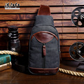 2016 Canvas Chest Sling Bag Fashion Men Single Shoulder Bag Casual solid Military Crossbody Bag Male British style Daily Bags
