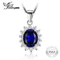 Kate Princess Diana William 2 5ct Blue Sapphire Gem Stone Wedding Pendant For Women Love Lady