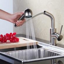 Superfaucet Щеткой Кухонный Кран Смесителя, Кухня Раковина Кран Pull, Кухонный Кран Pull Out, Краны Для Раковины HG-1163DC