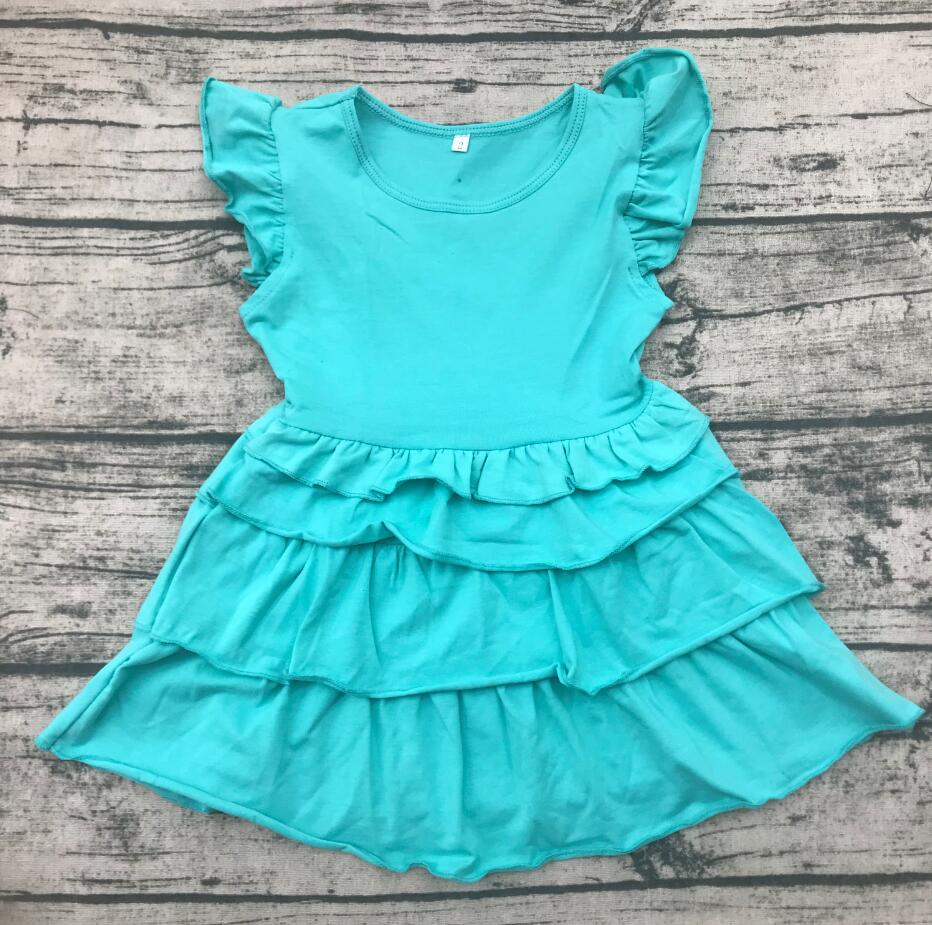 boutique girl <font><b>bf</b></font> photo <font><b>children</b></font> princess cotton dress baby flutter sleeve ruffle dress kids summer clothing image