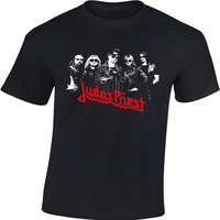 High Quality Men S Rock Band Tee Judas Priest Rock Metal Band Shirts 100 Heavy Cotton