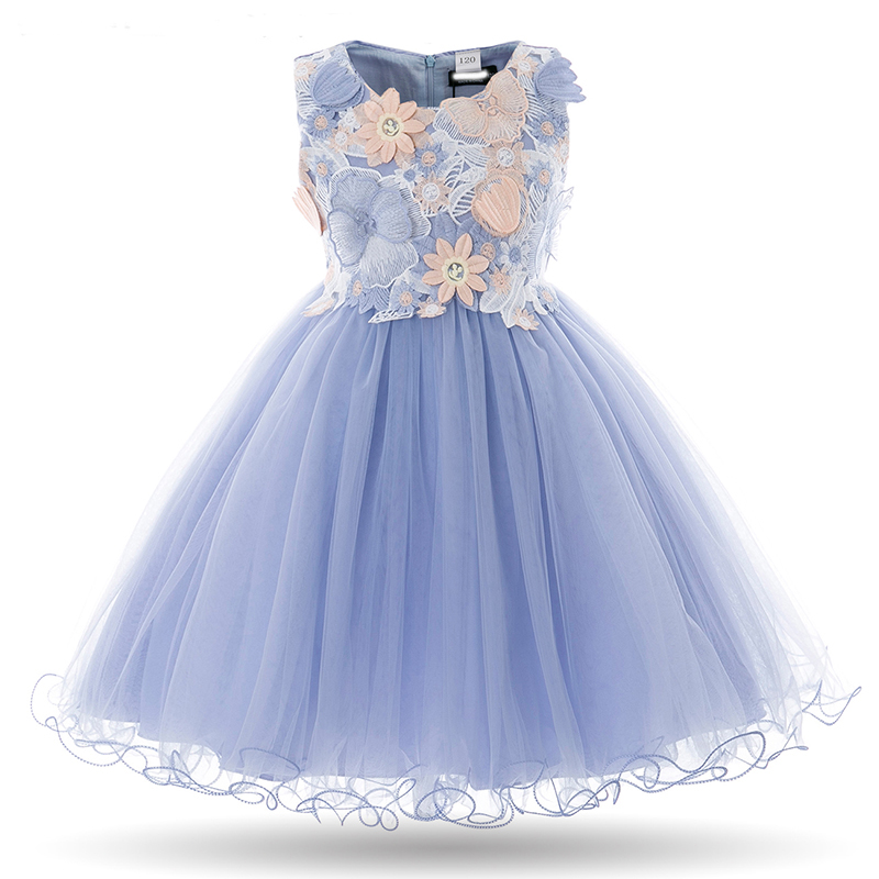 Flower Girls Dress For Girls Party Dresses 2018 Hot Children Fancy Princess Tutu Ball Gown Wedding Dress Kids Clothes 2-11Y lace short sleeve dresses princess flower tutu dress kids fancy party christmas halloween dress cosplay costume girls ball gown