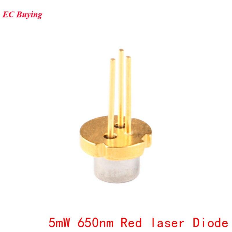 Купить с кэшбэком 5Pcs 5mW 650nm Red Laser Diode Laser Module 650NM Diodes DIY 5MW LED Electronics Design