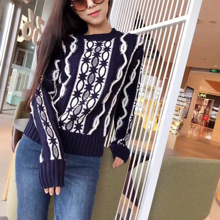 WB06851BG Fashion womens Sweaters 2018 Runway Luxury Brand European Design party style w ...