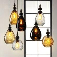 Nordic светодиодные стеклянные светильники Люстра Лофт потолочный светильник подвесной светильник