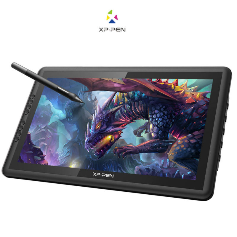 XP-Pen Artist16 15.6 Inch IPS Drawing Monitor Pen Display Drawing Tablet with Shortcut Keys Adjustable Stand ug1910b 19 inch graphic drawing tablet monitor pen drawing display tft lcd panel with 2 original rechargeable pen