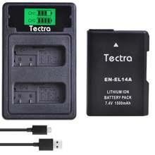 1 PCS 1500 mAh EN-EL14 EN-EL14A ENEL14 Batterij voor Nikon D3100 D3200 D3300 D3400 D3500 D5600 D5200 P7000 + LCD type C USB Charger