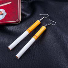 Fashion woman Earrings wholesale Cigarette butts earrings restoring ancient ways Gout contracted girl dangle earring for women(China)