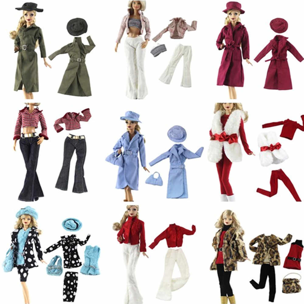 Multi-Styles Doll Party Elegant Blouse Casual Wear/Crystal Shoes Girls Suit Trousers Clothes Accessories For   Doll Gift