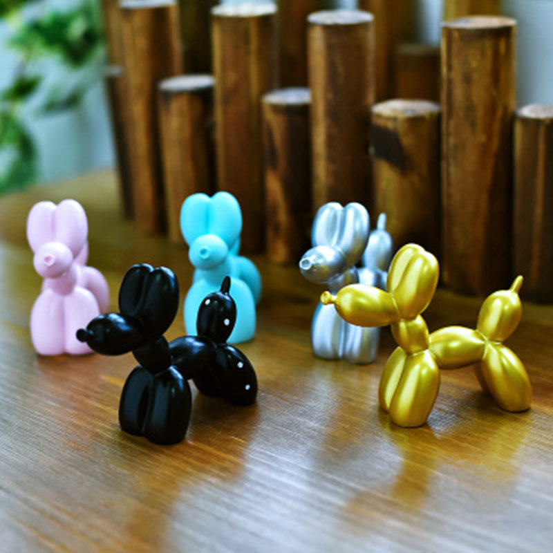 Cute Small Balloon dog Statues Resin Sculpture Crafts Gifts Fashion Cake baking Party Dessert Home Decoration Desktop Ornament