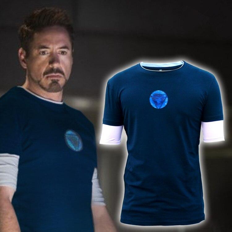 Iron Man 3 New Battle Suit Tony Stark Ironman   T  -  shirt   Movie   Shirt   Tee Size