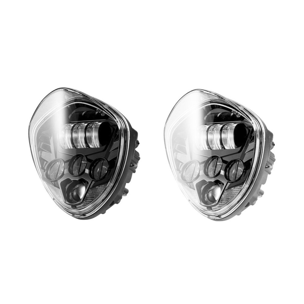 ICOCO Motorcycle LED Headlight High-low Beam 40W 6500K Bright Motorbike Head Lamp For Victory 2010-2016 For Cross-Country night lord 2pcscar led light h4 headlight head lamp dipped beam low beam or high beam hi lo 6000k white for fit 2011 2015 year
