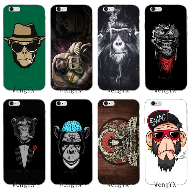 891078fc00ab swag Smoking Mask Monkey Slim silicone Soft phone case For Xiaomi Mi 6 A1 5  5s 5x mix max 2 Redmi Note 3 4 5 5A pro plus-in Half-wrapped Case from ...