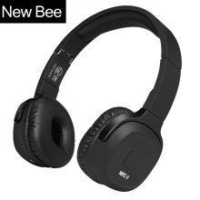 New Bee Upgraded Bluetooth Headphone Sport Headset Stereo Earphone with Mic NFC App Pedometer Earbud Stand Case for Phone PC TV