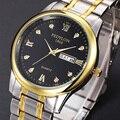 Fedylon qualidade da marca homens as mulheres se vestem de quartzo relógio de ouro relogio masculino relógios de luxo relógio de pulso de quartzo-relógio dos homens