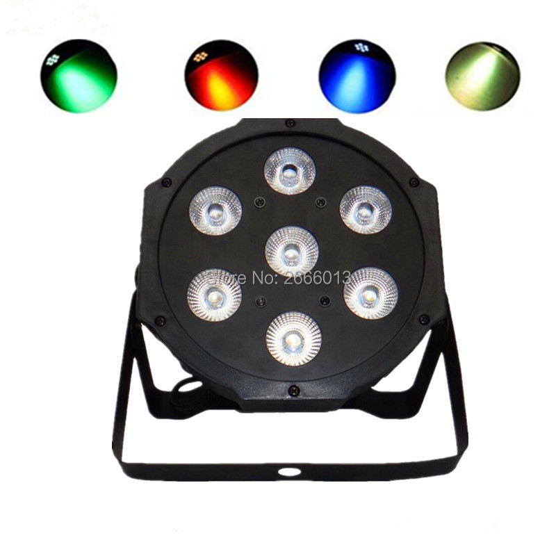RGBW 7x12w led Par light 4IN1 flat par led DMX512 disco lights professional stage Effct lighting dj equipments Xmas party lamp 2pcs dj disco par led 54x3w stage light dmx strobe flat luces discoteca party lights laser rgbw luz de projector lumiere control