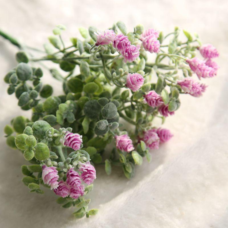 1 Demet Yapay Çiçek çam kozalağı Buket Akın Plastik Kırsal - Tatiller ve Partiler Için - Fotoğraf 5