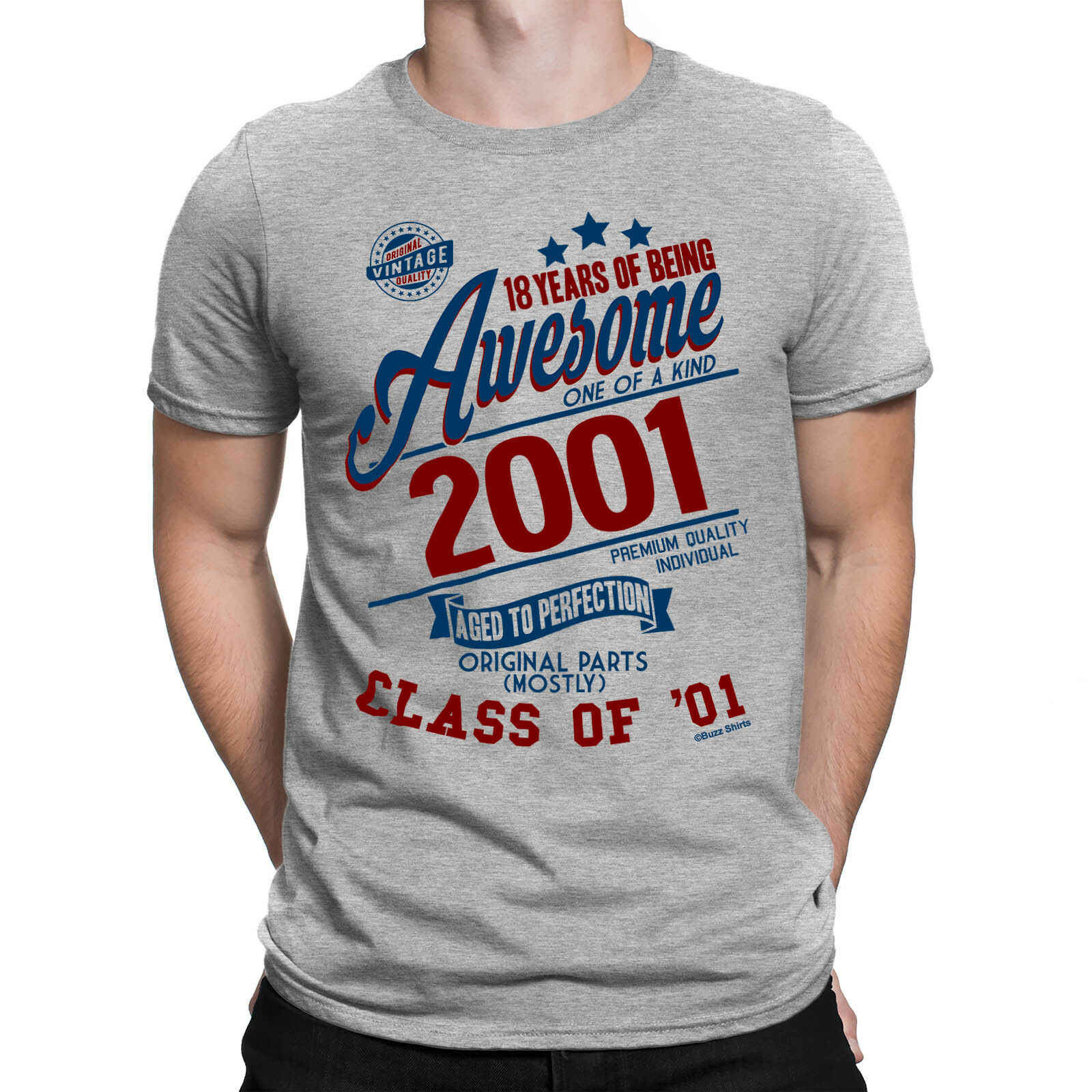 Herren 18th Geburtstag T Shirt 18 Jahre Als Super Klasse Von 01 Lustige Geschenk Top