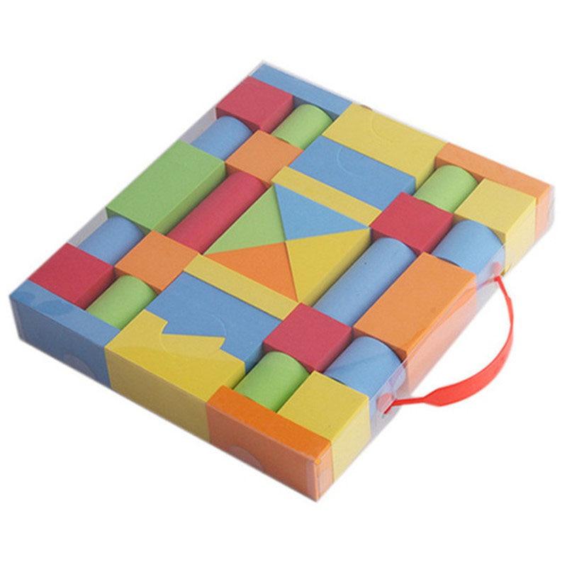 38PCS Hot Selling EVA Safe Children Building Brick Block Foam Construction Soft Toy Kid Kids Intelligence Exercise Assembled