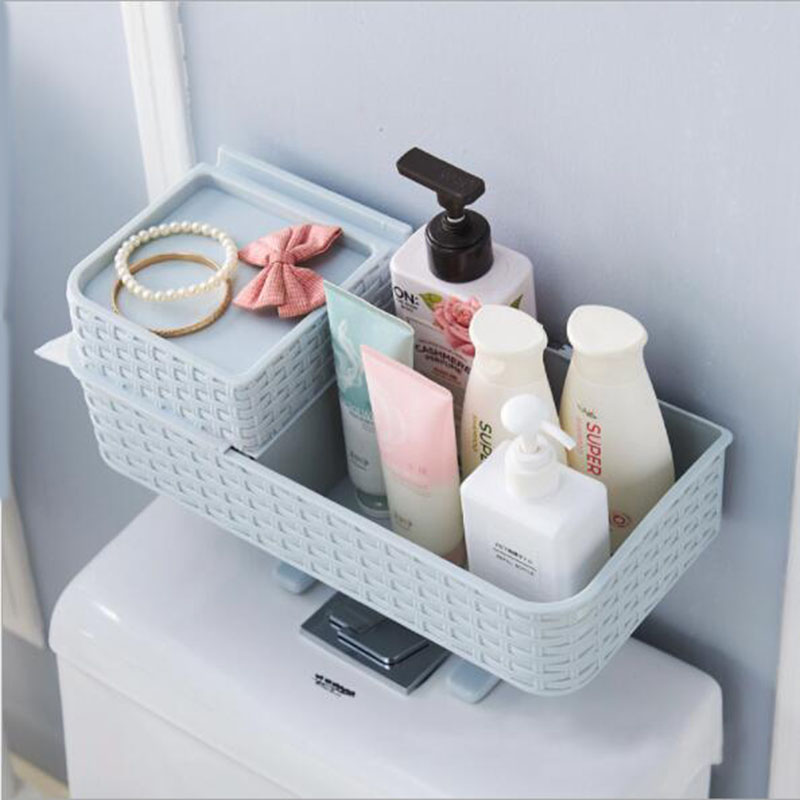 Multifunctional bathroom toilet holder tissue box toilet holder bathroom debris storage in Storage Shelves Racks from Home Garden