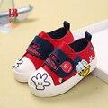 New chegou crianças flats shoes primavera crianças casuais das sapatilhas de lona dos desenhos animados das meninas dos meninos da criança caminhantes sapatilhas 6131