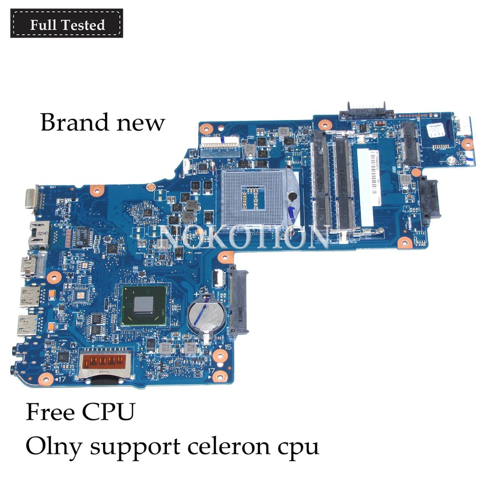 NOKOTION H000052740 Main Board For Toshiba Satellite L850 C850 Laptop Motherboard 15.6 inch HM70 GMA HD DDR3 works Free cpu h000052740 main board for toshiba satellite l850 c850 laptop motherboard 15 6 inch hm70 gma hd ddr3 free cpu