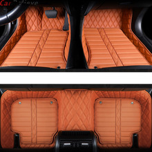 Car Believe Auto Genuine Leather car floor mat For ssangyong kyron actyon korando rexton waterproof accessories rugs