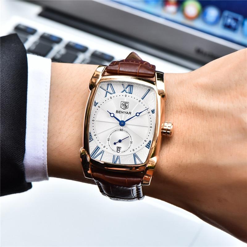 Image 3 - BENYAR мужские часы Топ Бренд роскошные золотые военные мужские наручные часы спортивные Бизнес Мужские часы водонепроницаемые Relogio Masculino 5114-in Кварцевые часы from Ручные часы on AliExpress - 11.11_Double 11_Singles' Day