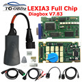 Золотистые чипы lexia 3 921815C  прошивка Diagbox V7.83 V8.55 Lexia3 PP2000 V48/V25  для Citroen/Peugeot  диагностический прибор  для автомобиля