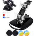 LED 2 Ports Dual Controller Charger Dock Station USB Hub Power Stand +4x Joystick Silicone Caps for PS3 Wireless Controller