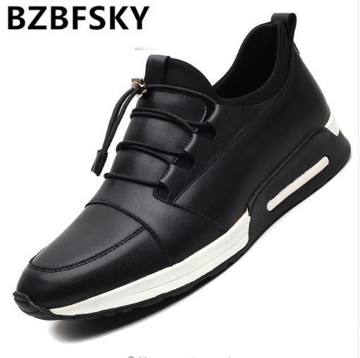 2018 Neue Männer Schuhe Leder Slipper Casual Zapatos Hombre Fahren Schuhe Männer Mokassins Schuhe Für Männer Chaussure Homme Schwarz Blau Verbraucher Zuerst