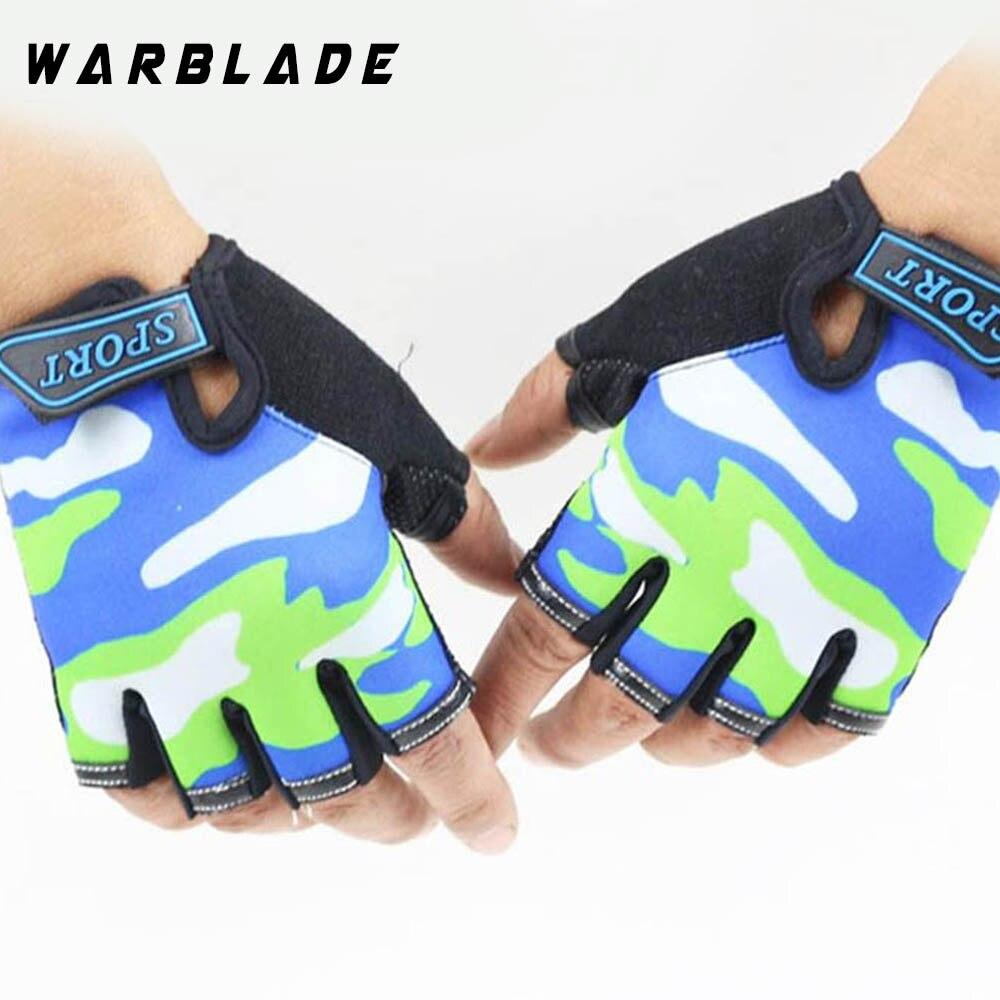 Fingerless Kids Gloves Non-Slip Ultrathin Children Half Finger Breathable Gloves For Boys Girls Luvas De inverno WarBLade