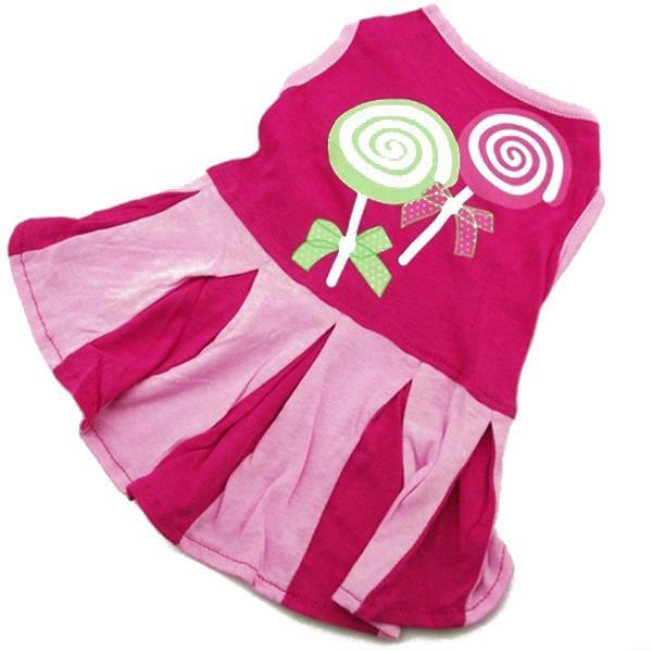 Hot Sales Puppy Dog Pet Mini Dress Apparel Dog Vest Dress Cat Skirt Stripe Clothes Costume